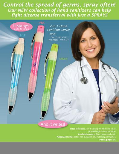 2-IN -1  HAND SANITIZER SPRAY PEN