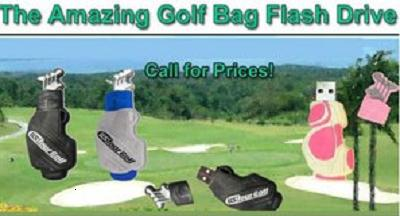 GOLF BAG SHAPE - FLASH DRIVE