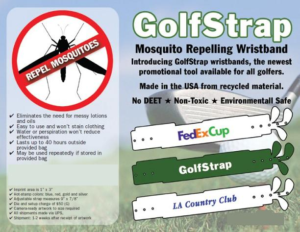 GOLF MOSQUITO REPELLING WRISTBANDS