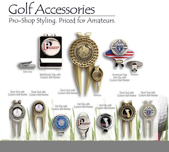 GOLF HAT CLIPS WITH  BALL MARKERS