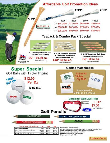 GOLF PRODUCTS - SPECIAL